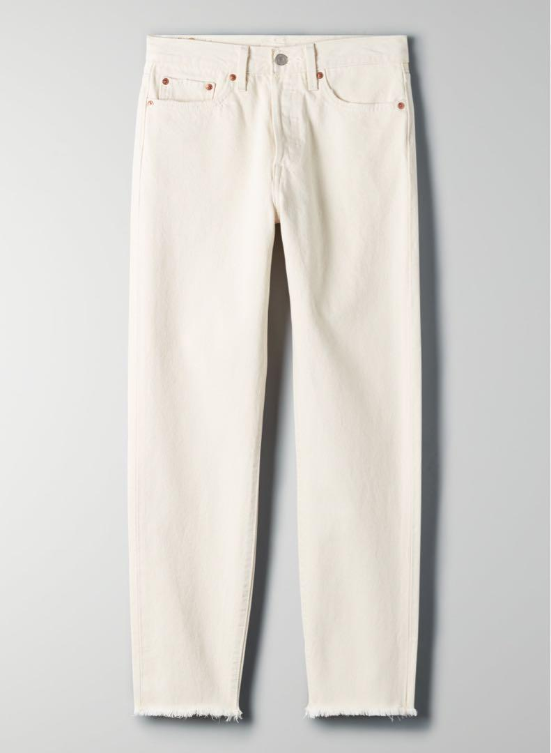 Levi's Wedgie Icon Cream Off-White Jeans