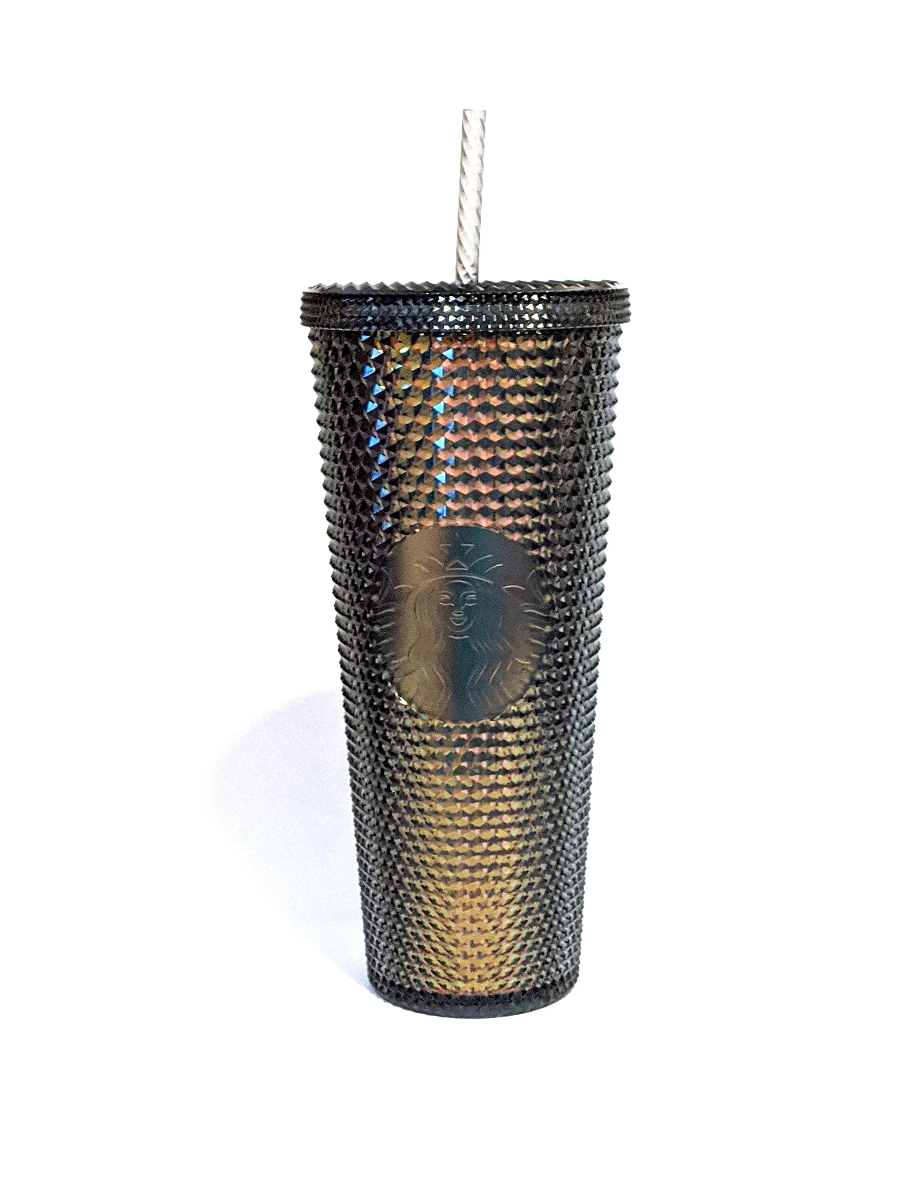 New Starbucks Studded Black Iridescent Cold Cup Tumbler 24oz Fall 2020 Fall