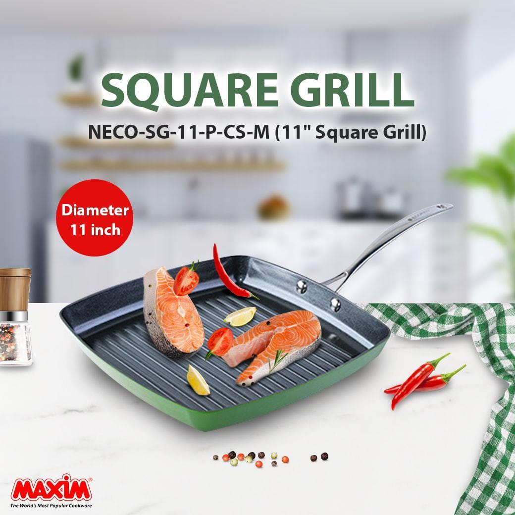 """Penggorengan Square Grill 11"""" Ecopan Maxim"""