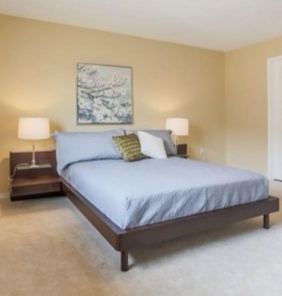 Queen wooden bed frame
