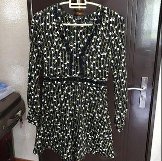 Topshop Floral Short Dress - UK 4