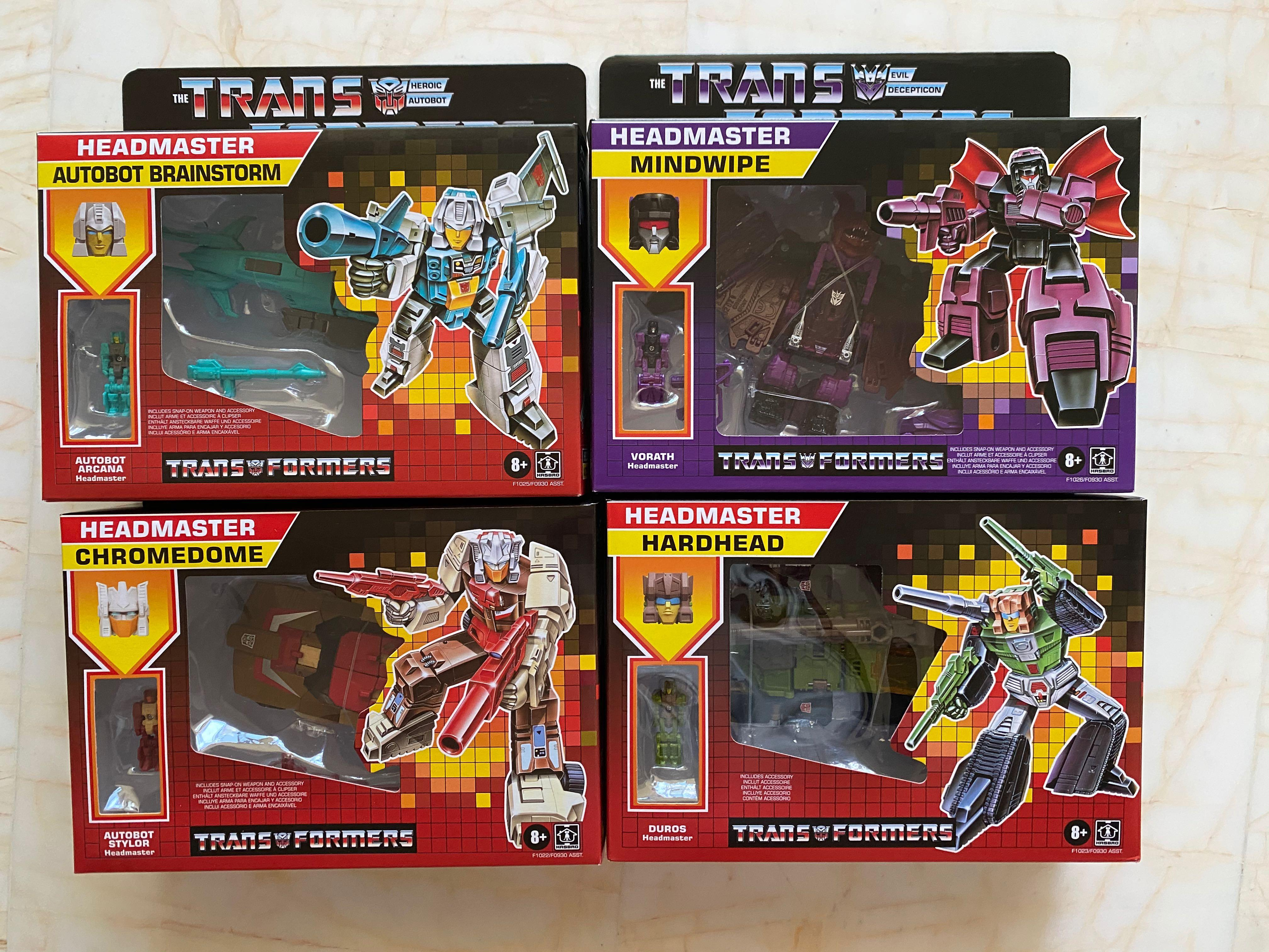 New@ arrivial TRANSFORMERS G1 Reissue Inferno and Grapple brand new$