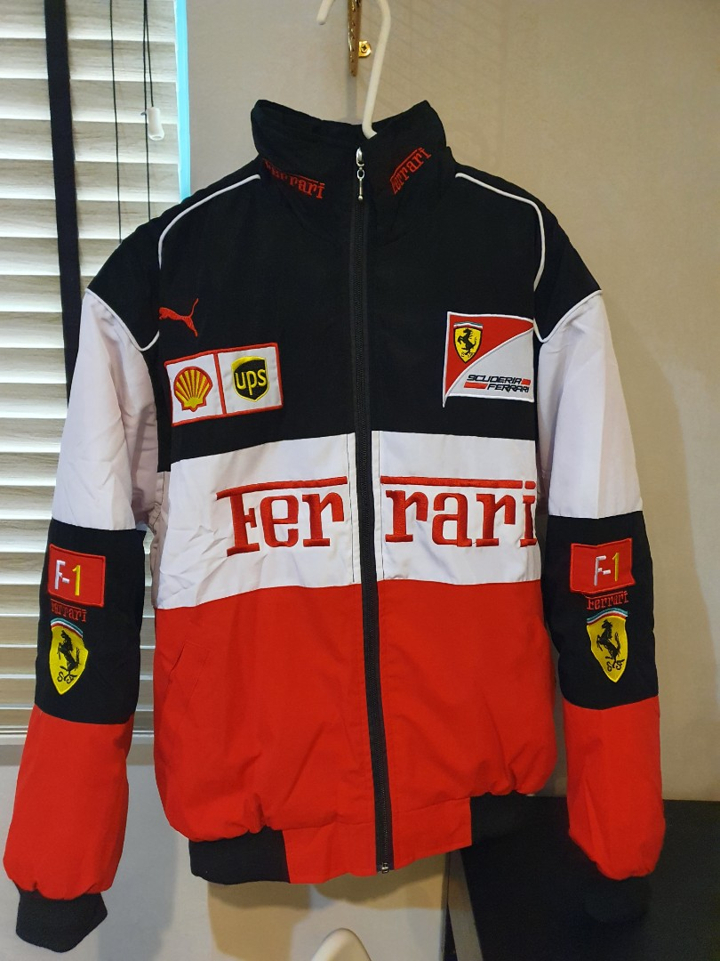 Vintage Racing Ferrari F1 Jacket Windbreaker Men S Fashion Clothes Outerwear On Carousell