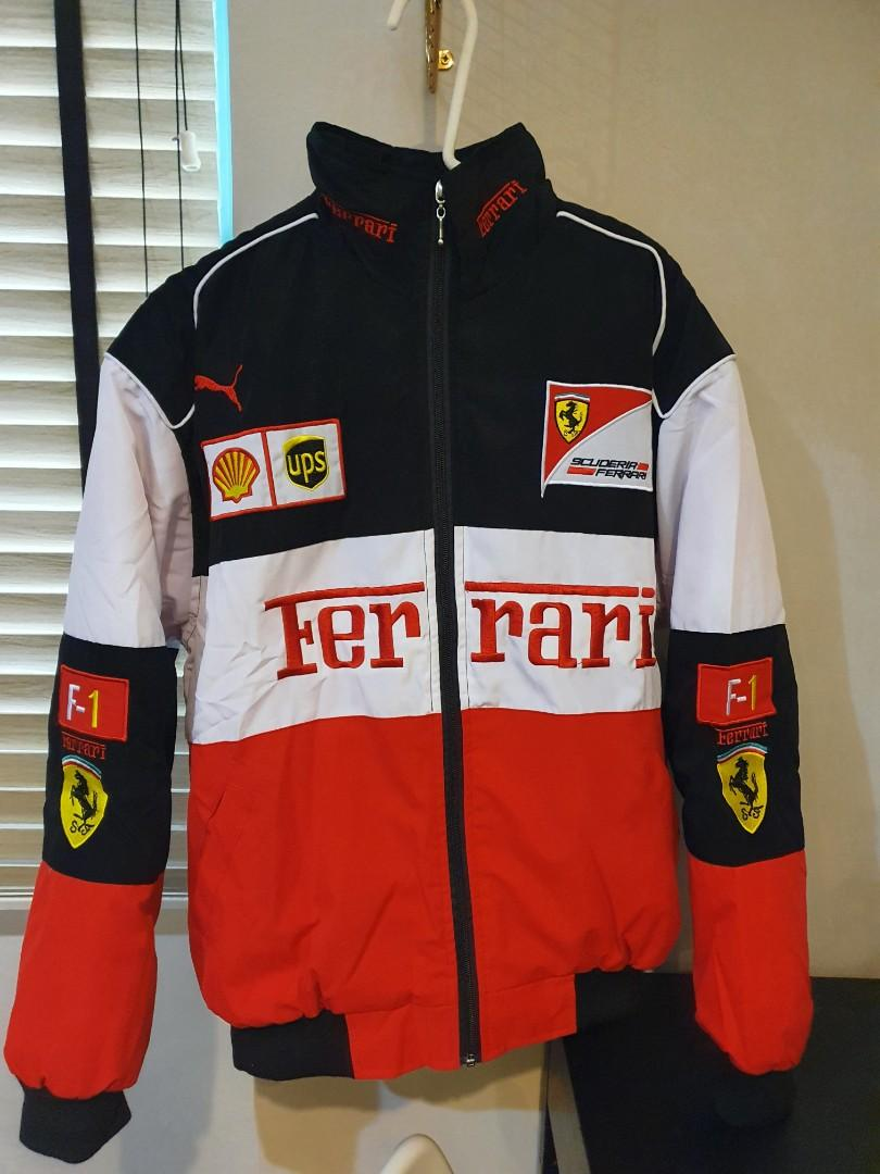Vintage Racing Ferrari F1 Jacket Windbreaker Men S Fashion Clothes Outerwear On Carousell
