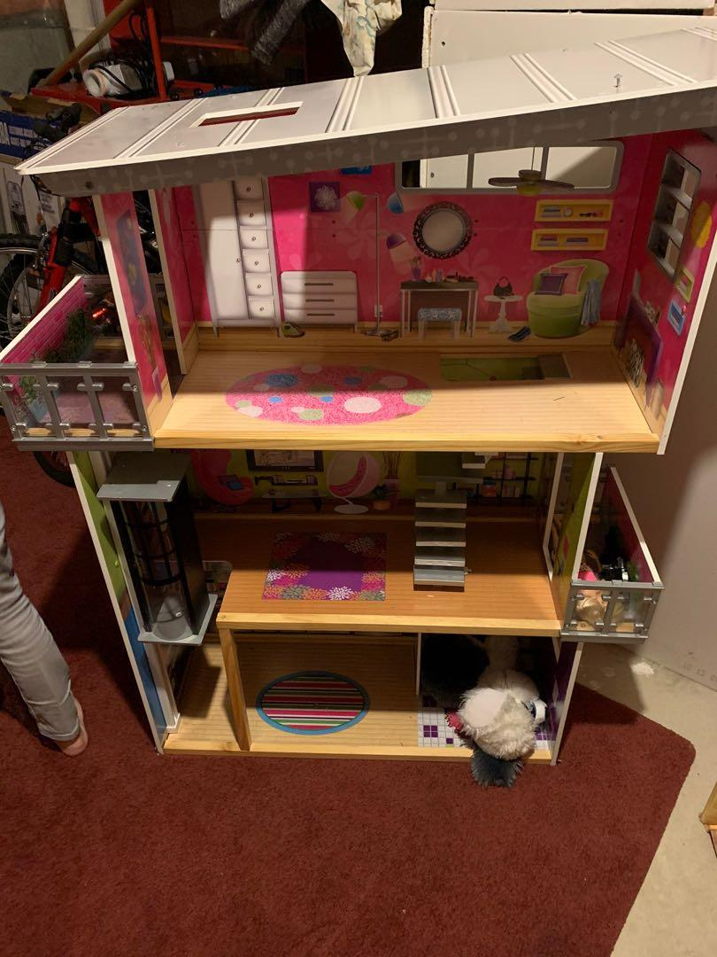 Wooden Barbie house and 2 doll houses