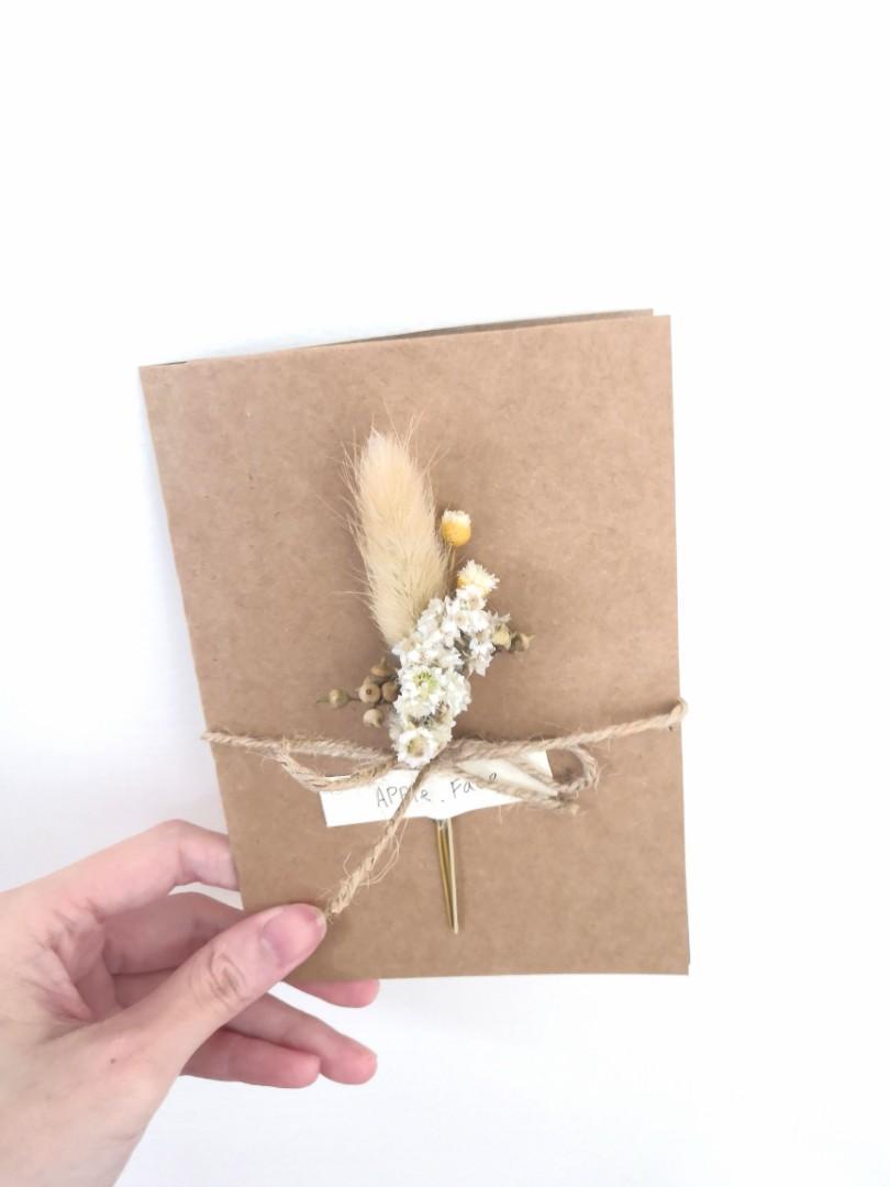 麥穗小米果乾花卡片