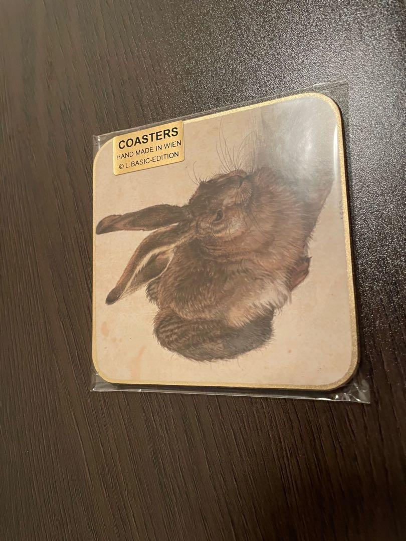 杜勒 野兔 手工杯墊