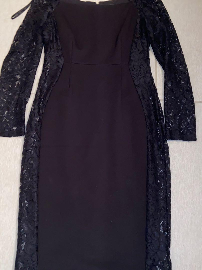 Black Lace Formal Dress