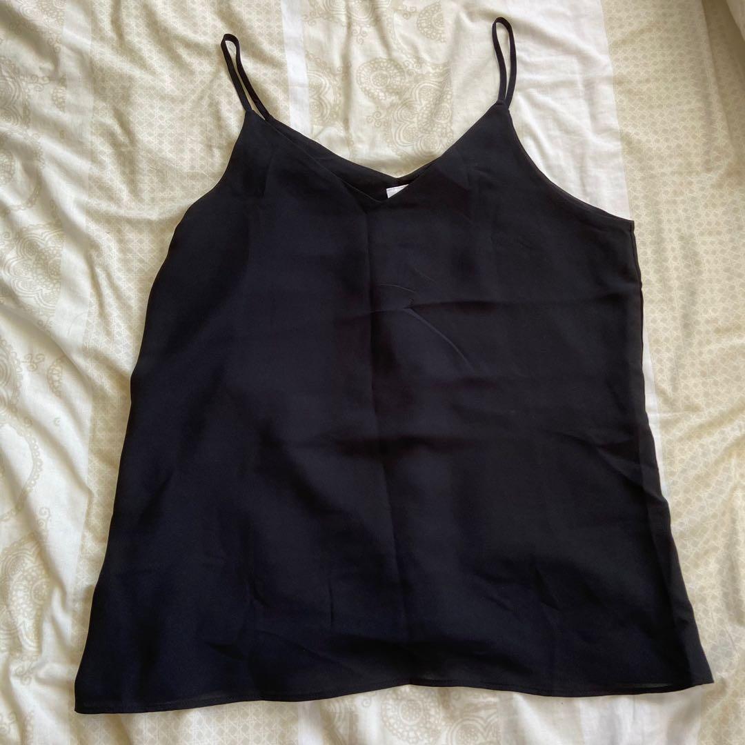 Black singlet top