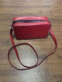 Cotton on red bag