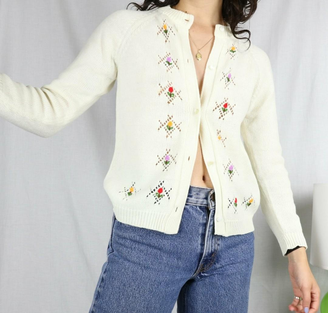 Cute Embroidery Knit Cardigan