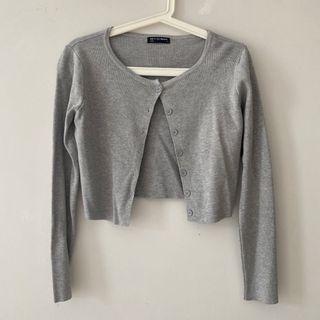 Grey Cardigan (Brandy Melville Athelia Knit Cardigan Dupe)