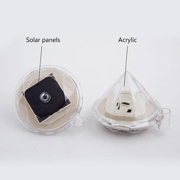 Lampu Taman Led Rgb Model Berlian Energi Solar Panel 1 Pcs Randomcolor Perabotan Rumah Di Carousell