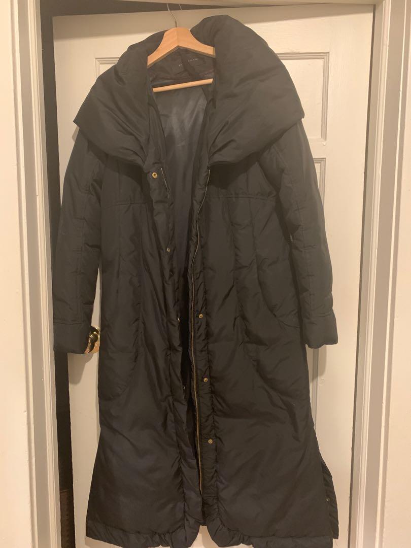 Long Elie Tahari down filled winter coat size s