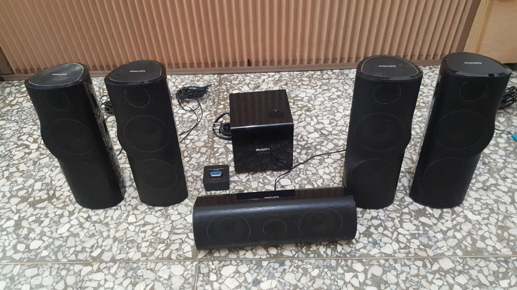 philips HTS5591/HTS5592喇叭 一個線頭脫落 + RWSS5510/00 無線喇叭接收器