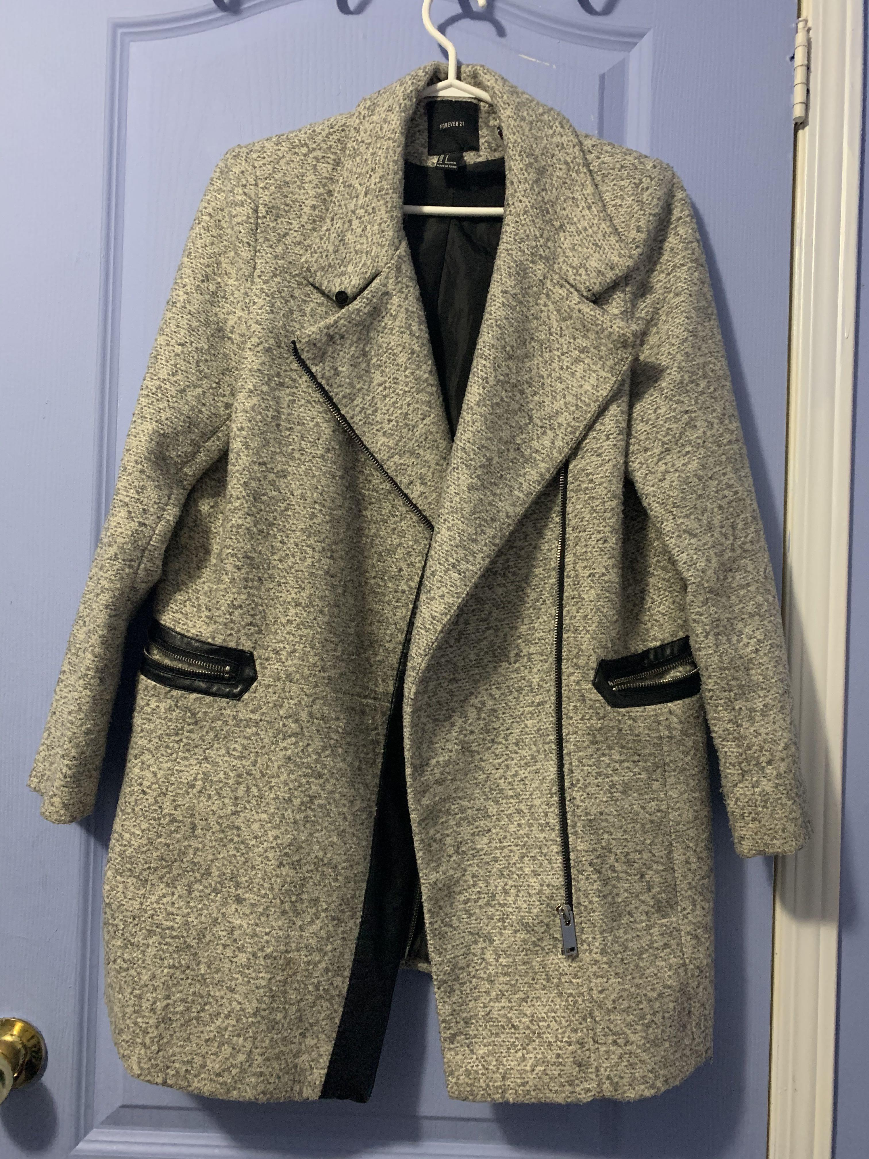 SMALL WOOL JACKET W LEATHER