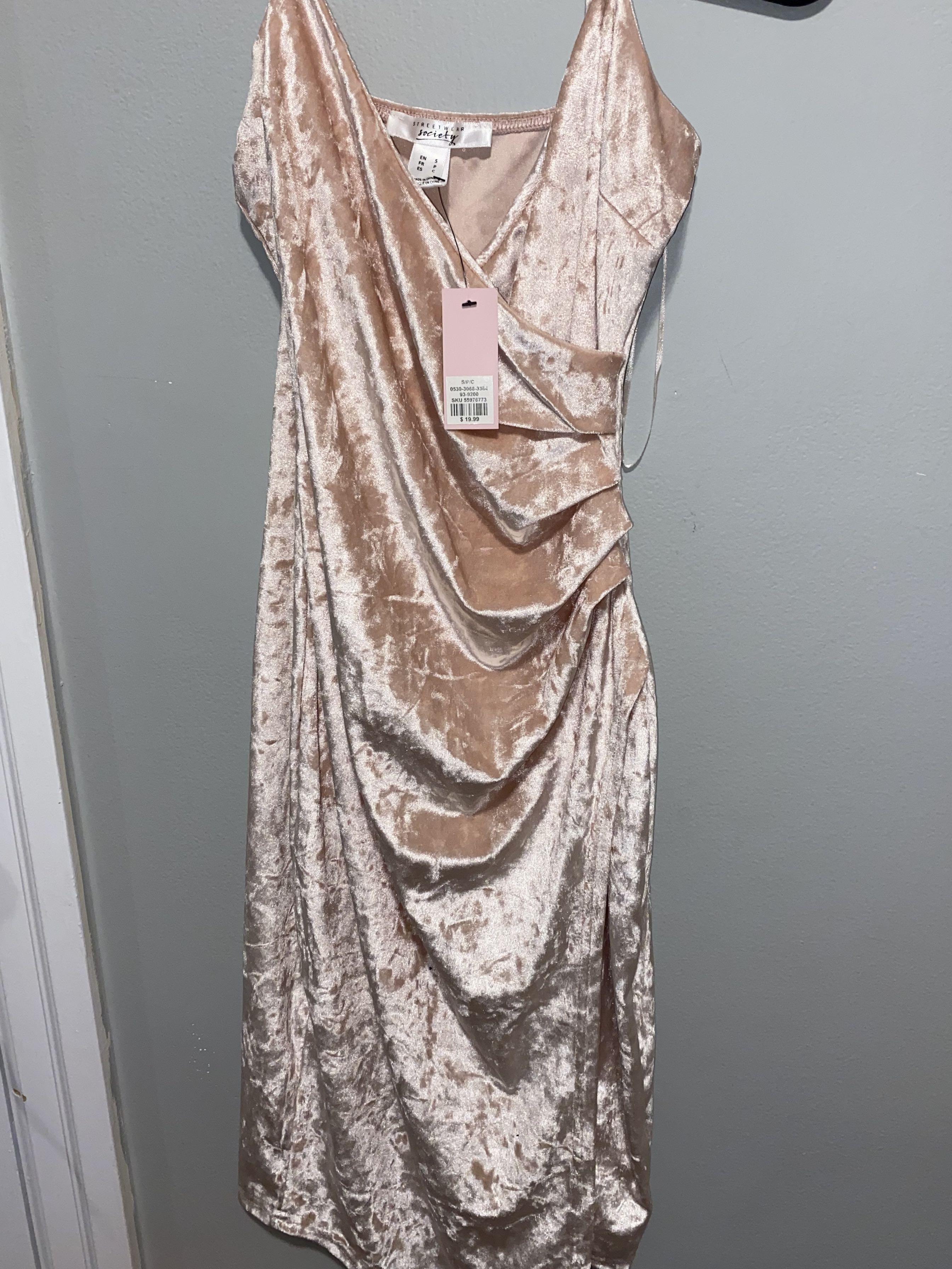 Velvet Pink Dress
