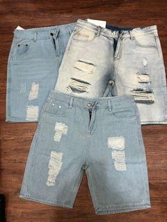 全新三件牛仔短褲一起賣XXL偏小L號M號能穿