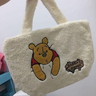 7-11小熊維尼可愛毛絨絨手提袋