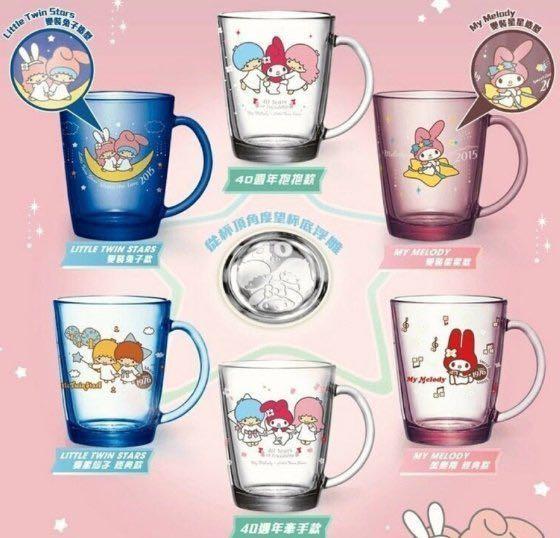 7-11 My Melody × Little Twin Stars 40週年限量玻璃馬克杯(美樂蒂經典款)