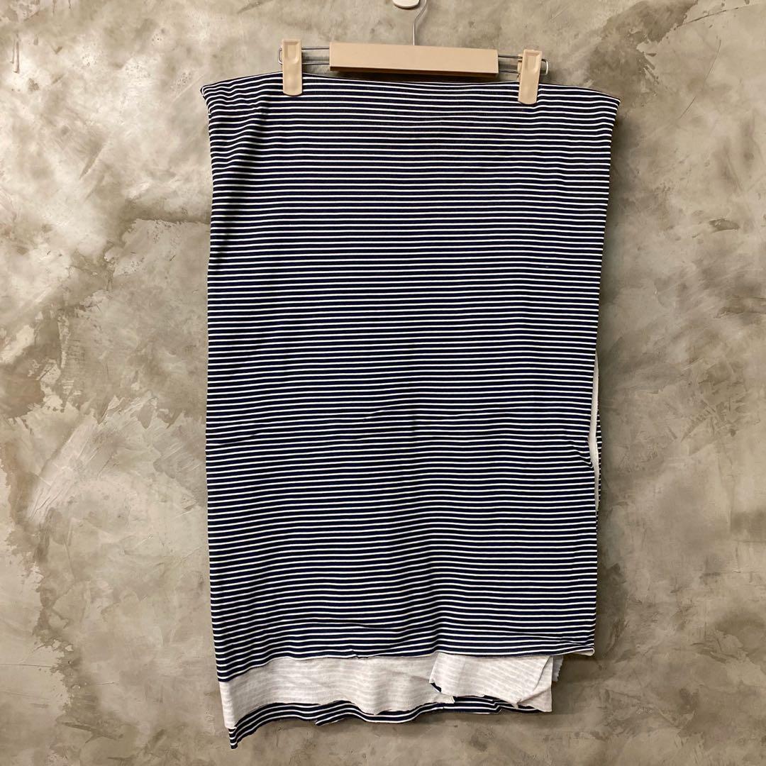 布料-棉質針織彈性布 深藍細條紋 單面印染 柔軟舒服 適合做居家服 枕巾等 180*240公分 便宜賣