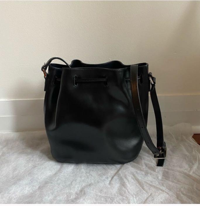 Agnes b Voyage leather bucket bag