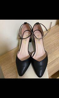 Bonjour 2way大容量5cm尖頭氣墊中跟鞋 23.5