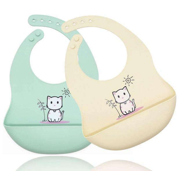 Brand new Silicone Baby Bibs for Babies Toddlers Feeding Bibs