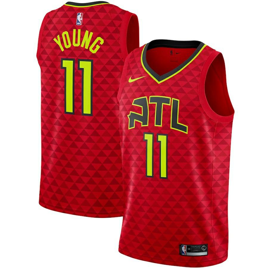 NBA Brand New Trae Young Atlanta Hawks Red Jersey Size 44, Sports ...
