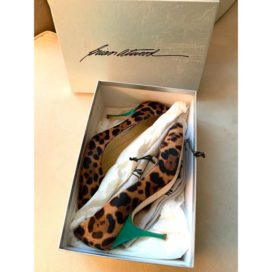 Brian Atwood Animal Print Pumps
