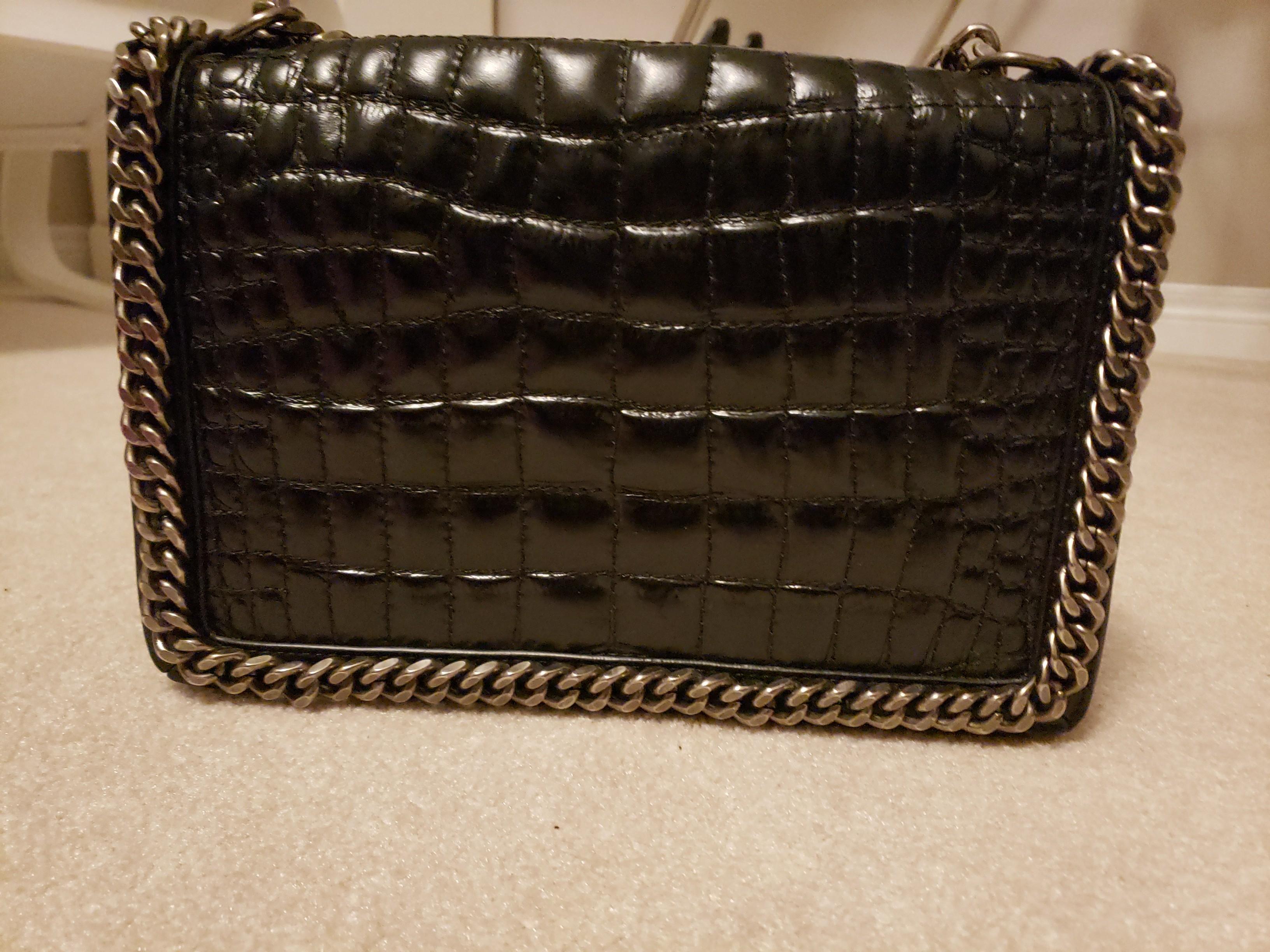 Croc Leather handbag- Zara