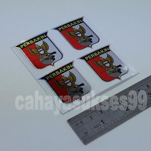 Cutting Sticker PERBAKIN Size Kecil 3,8cm x 4cm Sticker Body Motor Stiker Perbakin Reflective Stiker Kaca Mobil Kaca Etalase Paket Hemat 1set 4pcs NEW