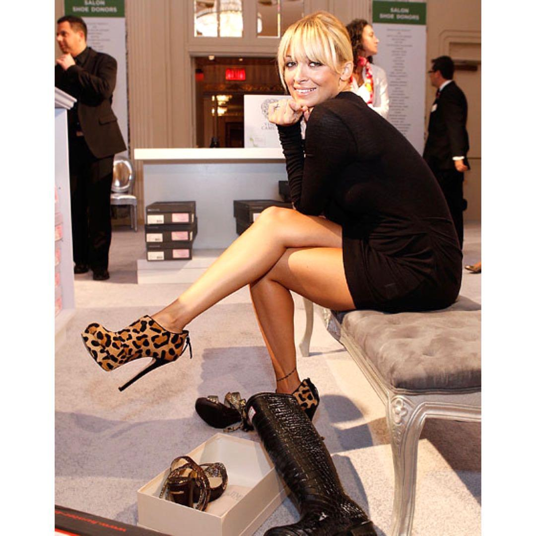 House of Harlow 1960 Animal Print Ankle Boots