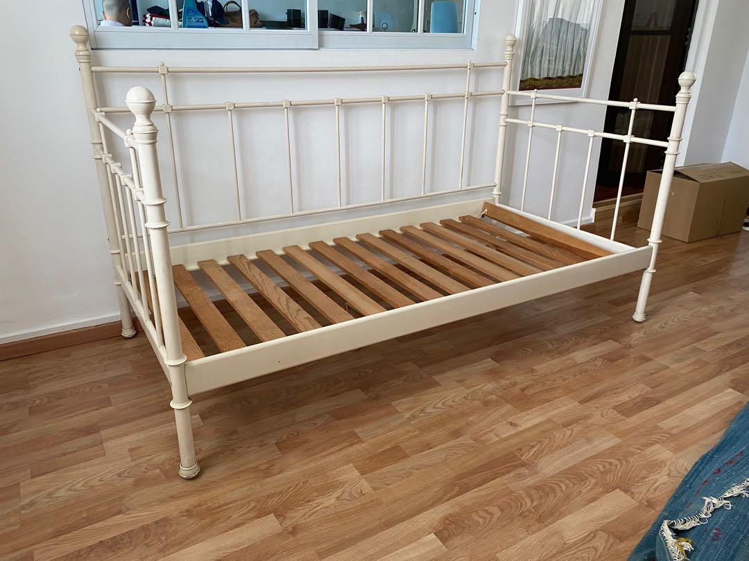 Ikea Metal Bed Frame Boho Chic Furniture Beds Mattresses On Carousell