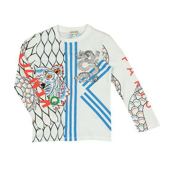 Kids KENZO Gibson Japanese Dragon T Shirt