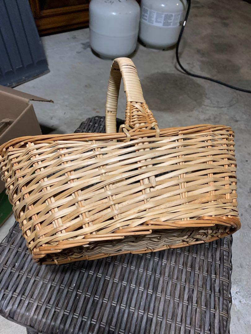 Oval wooden basket