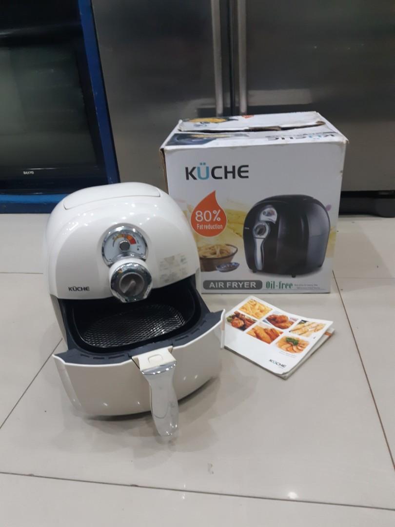 Penggorengan listrik tanpa minyak Kuche, Kuche Air Fryer K-899, bisa utk menggoreng & merebus, mulus
