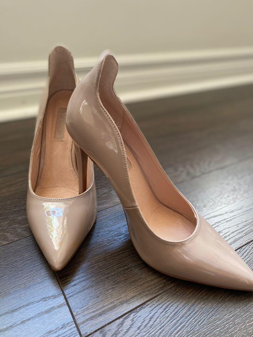 Topshop nude stilleto