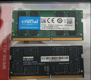 16Gb DDR4 2666 MHz CL 19 SO-DIMM