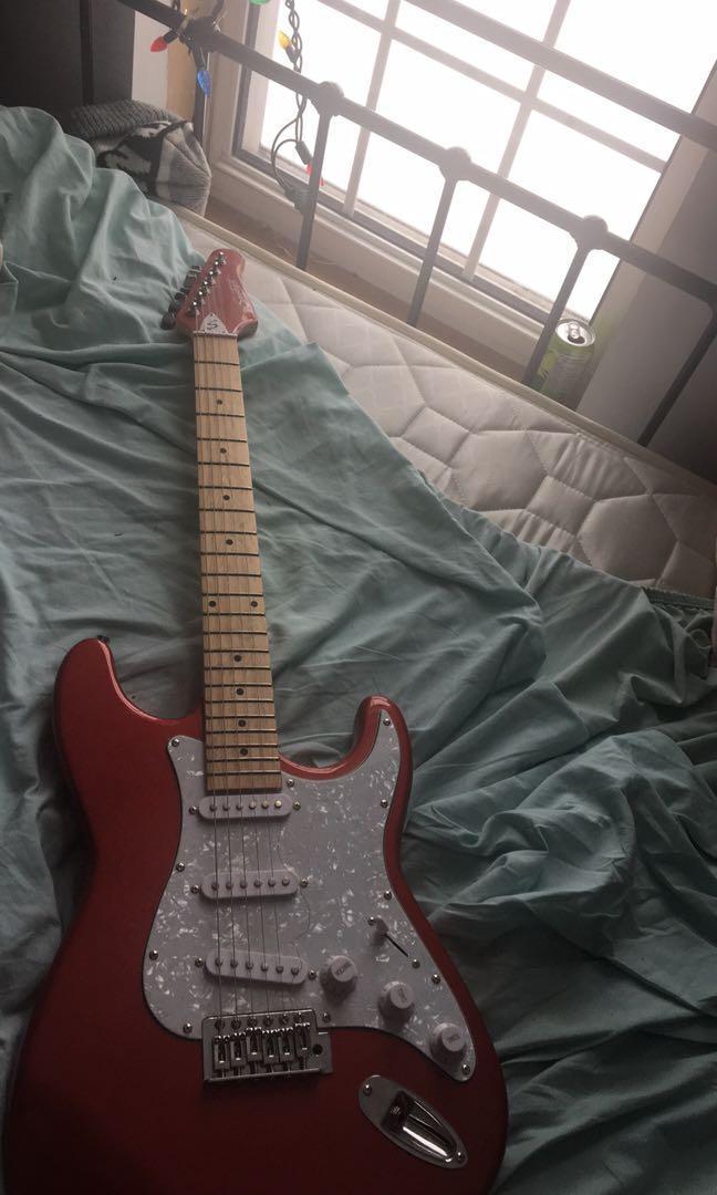 6 string electric guitar