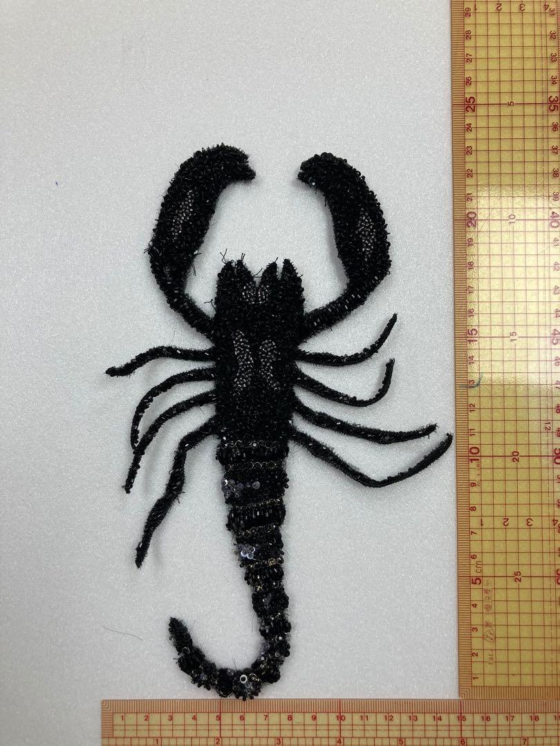 珠片縫珠刺繡蠍子