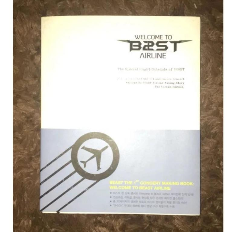 """[AL-PB001] B2ST - The 1st Concert Photo Book: """"Welcome To B2ST Airline"""""""