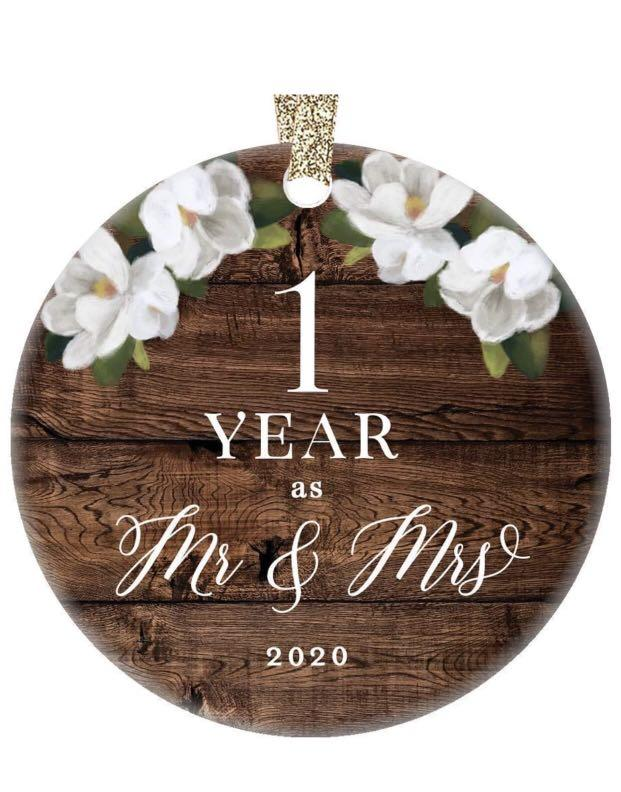Brand new First 1st Wedding Anniversary 2020 Christmas Tree Ornament