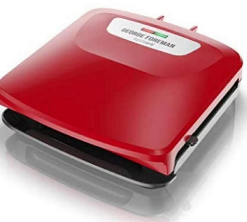George Foreman Electric Grill and Panini Press in Red
