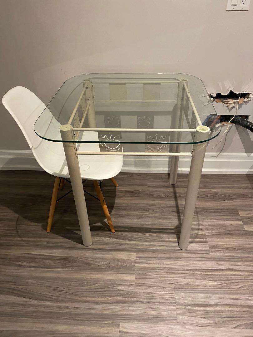 Glass top table (priced for quick sale)