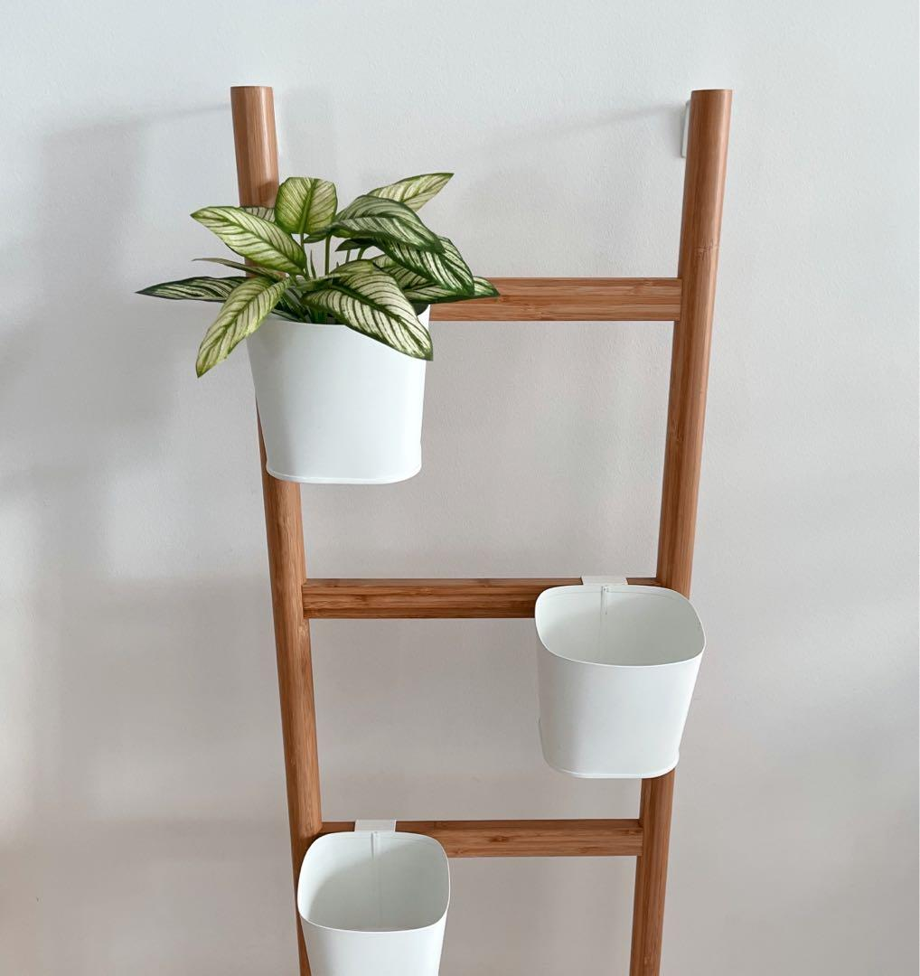 Ikea Satsumas Plant Stand With 5 Plant Pots Gardening Pots Planters On Carousell