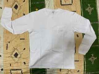 !組合包!JKS 長袖口袋素T 白色 沙色 尺寸XL 不拆售