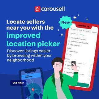 Locate sellers near you with the new location picker