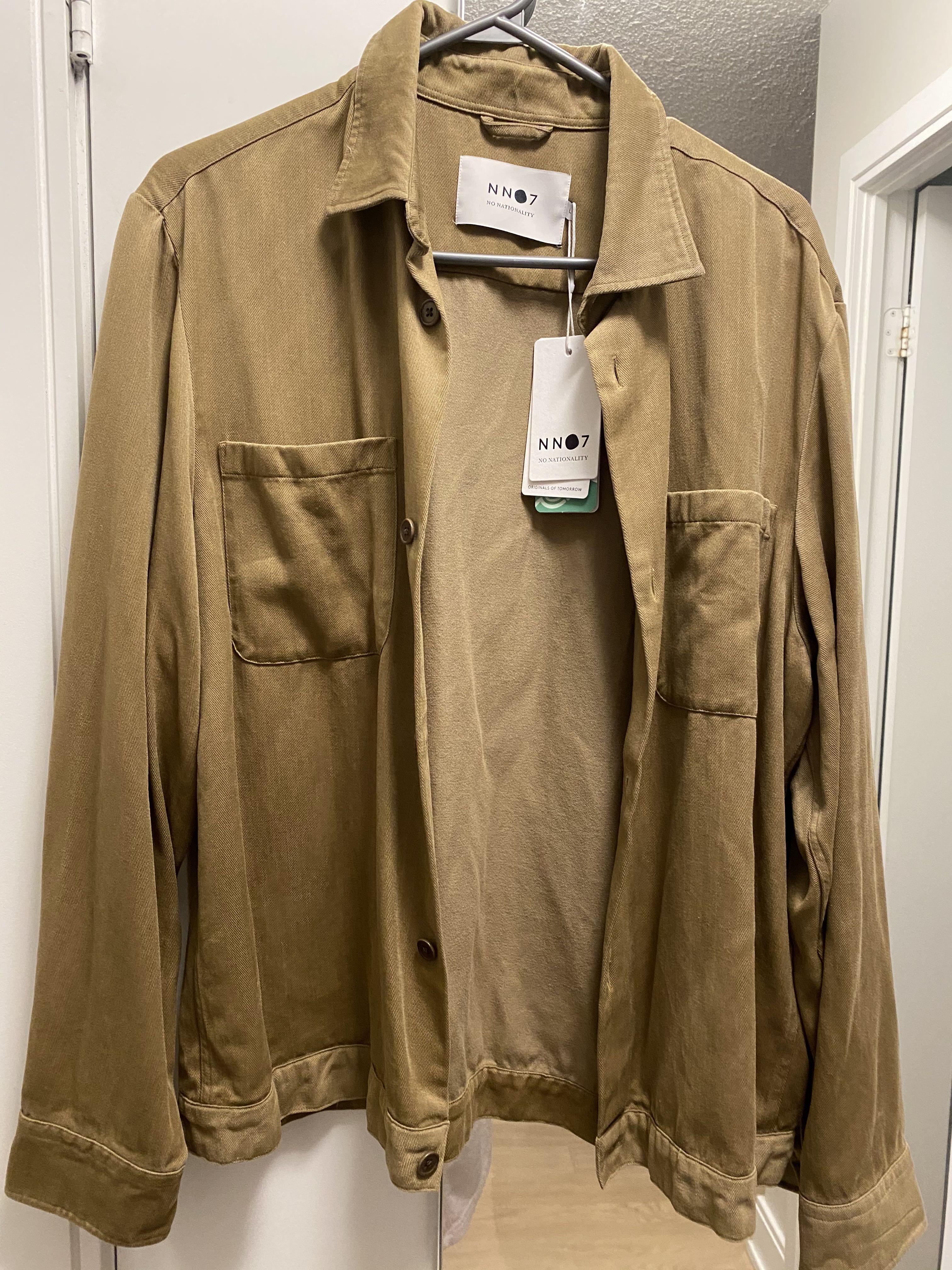 NN07 drake twill shirt jacket khaki