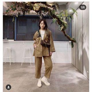 轉賣PAZZO rainie楊丞琳 造型西裝外套+ 韓系小姐姐九分直筒褲